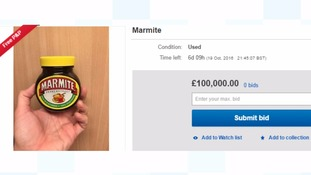 Jar of Marmite goes on sale on eBay for £100,000 after news of Tesco shortage spreads