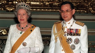 Queen becomes world's longest reigning monarch after Thai King dies