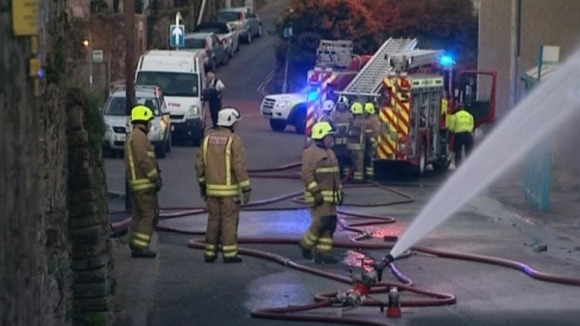 Firefighters in Swansea