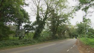 The A4106 Tythegston Road in Bridgend