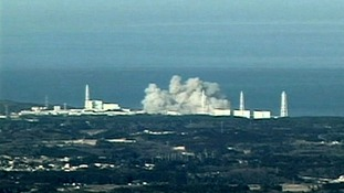 Fukushima explosion after the Japanese tsunami