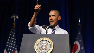Obama takes aim at Republicans that 'stood silently' behind Trump