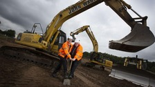 Cllr Simon Henig and Cllr Neil Foster at the site of the development.