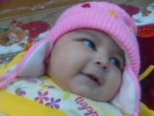 The baby has been identified as Areej Ali.