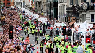 Thousands thronged the streets of London for the parade in 2012