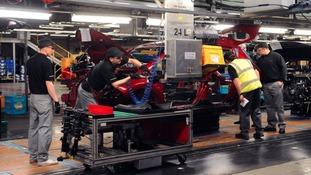 The Nissan factory floor on Wearside.