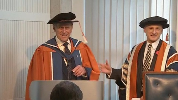 The Duke receives his doctorate