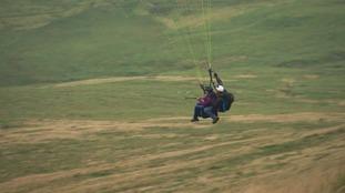 Flying near Aberystwyth