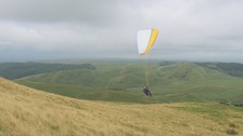 Paragliding near Aberystwyth