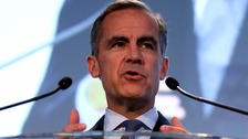 Governor of the Bank of England, Mark Carney, speaks in Birmingham.
