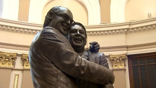 Statue of Morecambe and Wise unveiled in Blackpool