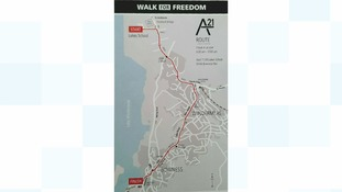 The Walk For Freedom route