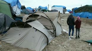 Orphaned children in Calais