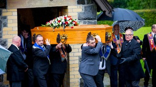 The funeral of Ryan Baird was held in Larne on Saturday morning.