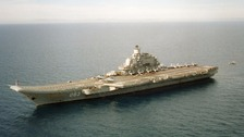 The Admiral Kuznetsov is one of the vessels expected to pass close to the UK