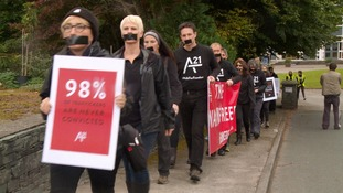 Anti-slavery campaigners march through Windermere