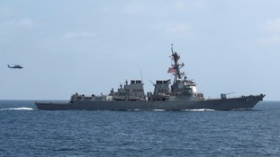 An American warship like the one targeted.