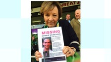 Delia poses at Carrow Road with a find Corrie poster