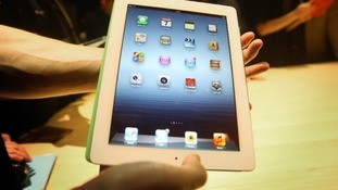 The new Apple iPad being unveiled at a launch party at Kings Place