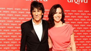Ronnie Wood and Sally Humphreys who have announced they are to be married.