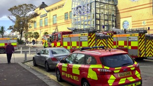 Several fire engines were called to the Royals Shopping Centre