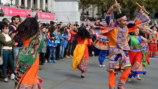 London celebrates Diwali Festival at Trafalgar Square