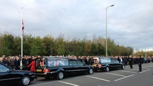 Two fallen soldiers are repatriated at RAF Brize Norton