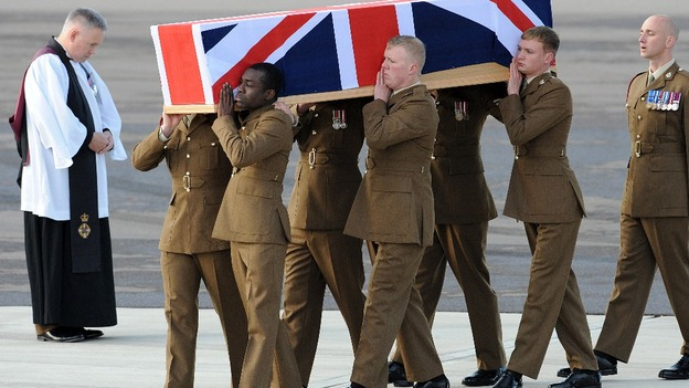 The repatriation ceremony at RAF Brize Norton of Corporal Channing Day from 3 Medical Regiment