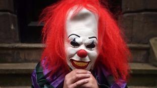 Machete-wielding 'killer clown' threatens two teenage girls