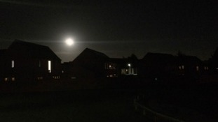 View of the Supermoon in Derby last night