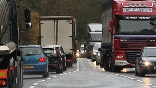 A congested section of the A11