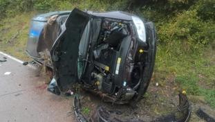 Man suffers nasty head injury after crash