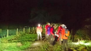 Patterdale Mountain Rescue Team members at the incident