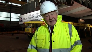 """Sir David Attenborough: """"I am very flattered to be asked to lay the keel"""""""