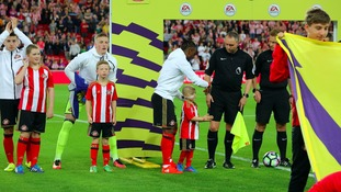 Bradley Lowery when he was mascot for the Sunderland and Everton match