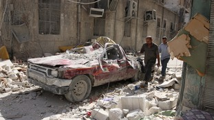The planned stay in bombing is intended to allow civilians to leave the city