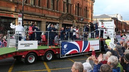 Team GB and Paralympics GB's Rio stars in Manchester parade