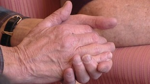 An older man's hands
