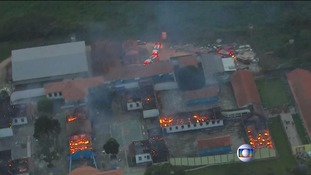 55 prisoners escaped from the prison after starting a fire