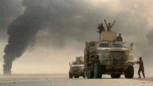 Peshmerga forces began the assault towards Mosul on Monday.