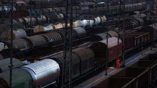 Wagon trains of DB Cargo.