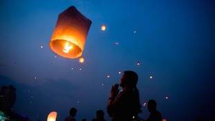 Sky lanterns can pose a fire risk.