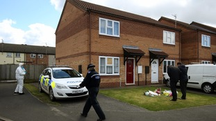 The house in Spalding where the victims were killed.