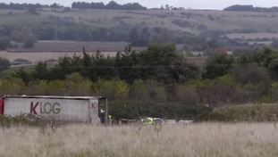 A body has been found in lorry in Kent