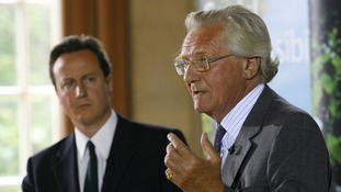 Lord Heseltine at a press conference with then Conservative Party leader David Cameron in 2007.