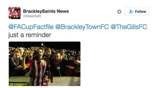Brackley's tweet
