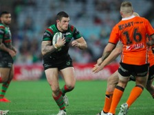 Luke Burgess in action for South Sydney Rabbitohs