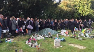 Crowd pay respects to unclaimed baby at her funeral