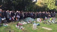 Baby Raihana's funeral