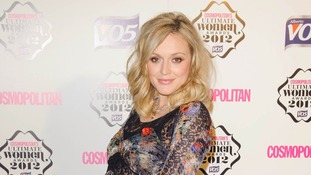 Host Fearne Cotton arrives for the awards.